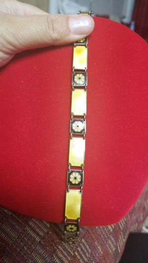 ANTIQUE DESIGNER DAVID ANDERSON STERLING ENAMELED BRACELET for Sale in VA, US