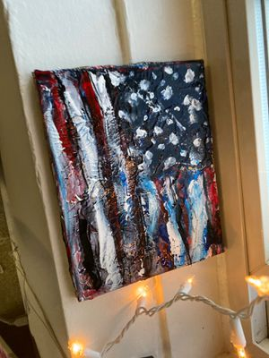 """Acrylic painting """"JUSTICE CREED"""" Artist-Sapphire Faro for Sale in Alexandria, VA"""