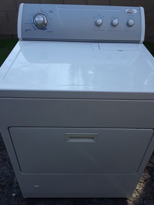 Whirlpool gas dryer works great free delivery and installation within 10 miles radius for Sale in Ontario, CA