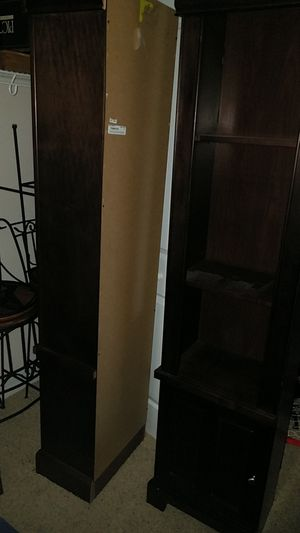 2 cabinet ends/bookshelves with door storage for Sale in Plant City, FL