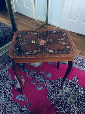 Antique hand made wood musical table for Sale in Los Angeles, CA