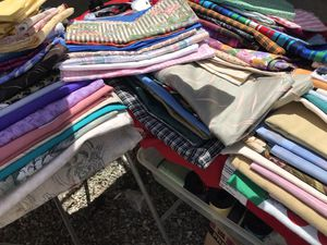 fabric. selling by piece.. for 1...2.. or 3 dollars each piece .. thread .. elastic.. and more for Sale in Fontana, CA