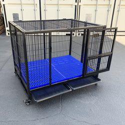 "$160 (new) heavy-duty dog cage 41x31x34"" single-door folding kennel w/ plastic tray for Sale in El Monte,  CA"