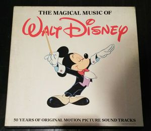 Vintage The Magical Music of Walt Disney 4 Vinyl Records, 50 Years of Original Motion Soundtracks for Sale in Puyallup, WA