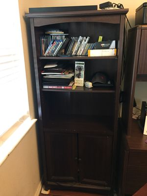 Book shelf with cabinets $100 OBO for Sale in Grand Prairie, TX