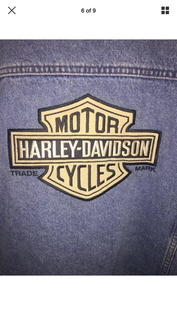 Harley Davidson Men's Denim Vest Jacket, Size XL