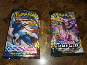 14 BRAND NEW SEALED POKEMON SWORD & SHIELD 10 CARD BOOSTER PACKS AS SHOWN for Sale in Warwick, RI