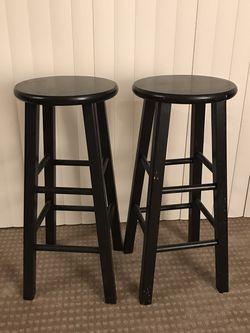 Set of 2 Black Bar Stool for Sale in Everett,  WA