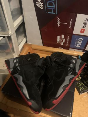 Nike air Jordan retro bred 8s size 10 cash or trade meet in passaic for Sale in Passaic, NJ