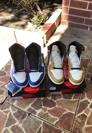 "Air jordan 1 ""rookie of the year"" and ""game royal"" size 9 for Sale in Missouri City, TX"