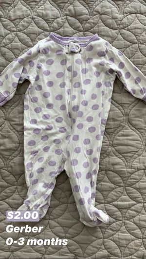 Gerber Baby Footed Pajamas for Sale in Seattle, WA