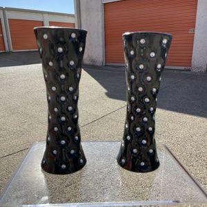 Black Rhinestone Tall Flower Vase for Sale in Dallas, TX
