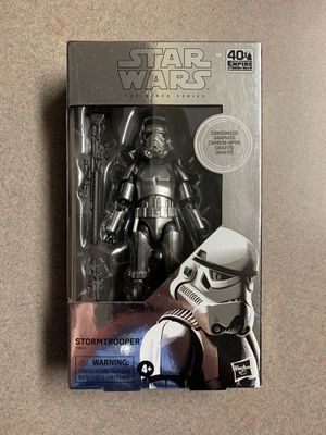 Carbonized Stormtrooper Black Series Figure GameStop Exclusive Star Wars 40th Empire Strikes Back Disney Hasbro for Sale in Flower Mound, TX