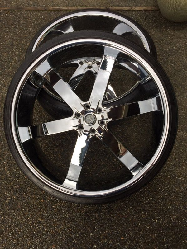"Used Cadillac Escalade For Sale >> 30"" Inch U2 55 wheels rims and tires 6lug 6x5.5 or 139.7 mm for Sale in Federal Way, WA - OfferUp"