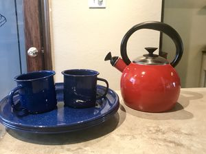 Camping ⛺️ durable Dishes, Cups and Tea Kettle for Sale in Hobbs, NM