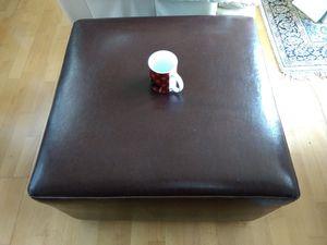 Dark brown and chrome ottoman for Sale in Seattle, WA