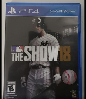 MLB The Show 18 PS4 for Sale in Fresno, CA