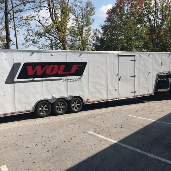 40' Enclosed Car Trailer With Awning