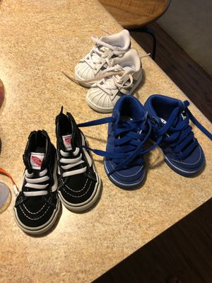 Size 3.5 vans size 4 Adidas for Sale in Oxon Hill, MD