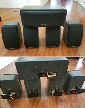 Polk audio 780w surround sound speakers for home stereo for Sale in Long Beach, CA