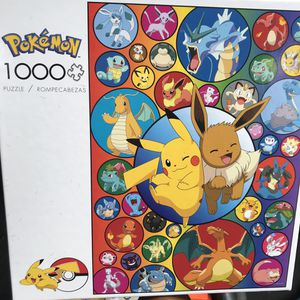 NEW!!! 1000 Piece Pokemon PIKACHU & EEVEE Puzzle for Sale in Torrance, CA