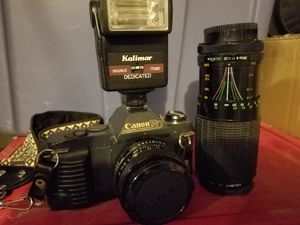 Canon T50 35mm camera and lenses for Sale in Springtown, TX