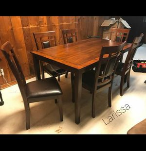 ⬇️ 39 DOWN PAYMENT ☆ Brand New Paige Brown 7-Piece Dining Set》Table & 6 Side Chairs🚚 SAME-DAY DELIVERY for Sale in Houston, TX