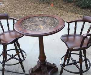 Antique table and two chairs for Sale in Raleigh, NC