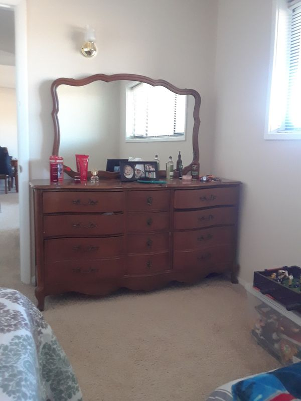 Solid Wood Long Dresser Mirror