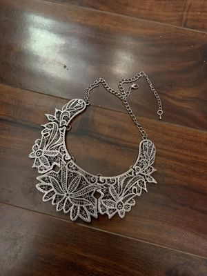 Leaf Silver Collar Necklace for Sale in Denver, CO