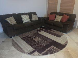 Dark brown sofa and loveseat for Sale in Cedar Hill, TX