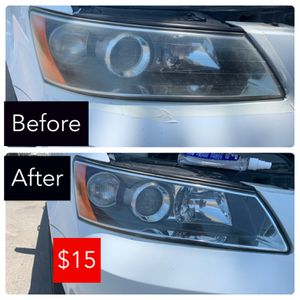 Headlights restoration on any Car or Truck $15 for Sale in Visalia, CA