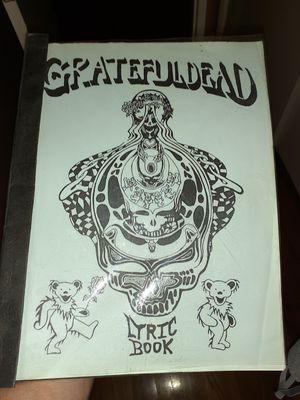 Grateful dead lyric book for Sale in Sacramento, CA