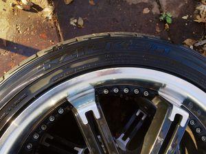 Falken tires mounted on Drifz Jade custom rims. for Sale in Wichita, KS