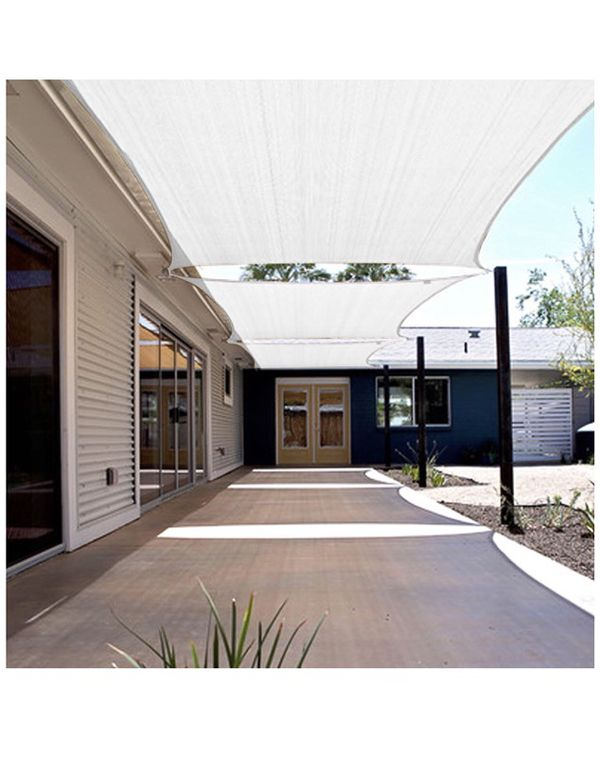 Khomo Gear Rectangular Sun Shade Sail 16 X 20 Ft Uv Block Fabric