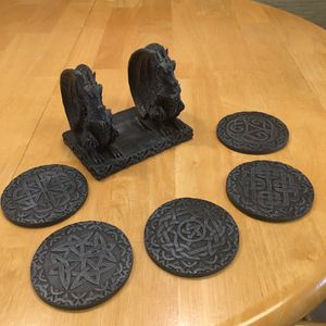 Pewter Dragon coaster set! for Sale in Tampa, FL
