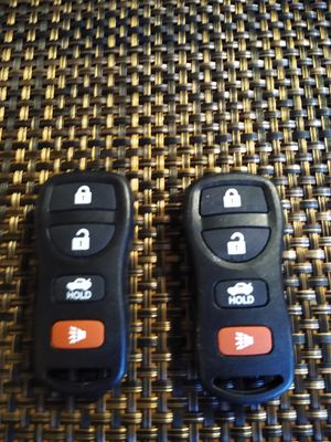 2 for Nissan Maxima Altima 2002 2003 2004 2005 2006 Keyless Entry Remote Key Fob $10 ea for Sale in Pumpkin Center, CA