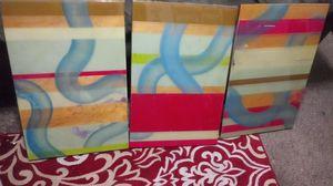 Beautiful 3 piece wall art glossy for Sale in Philadelphia, PA