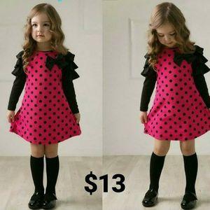 New 2018 autumn /spring children clothing girls polka dot dress long-sleeve kids girls princess dress kids clothes for Sale in Brooklyn Park, MD