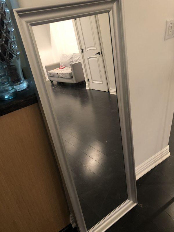 Silver full length mirror