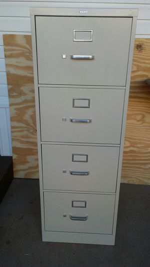 HON 4 drawers filing cabinet 310 Series vertical files o for Sale in San Benito, TX
