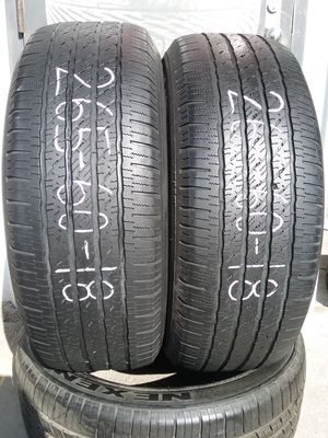 Pair of used 265 60 18 Michelin tires for Sale in Jacksonville, FL