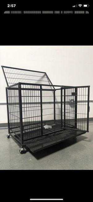 Brand new top quality dog pet kennel cage crate with wheels and plastic tray🇺🇸 dimensions in second picture🐶🐕🐕 for Sale in Las Vegas, NV