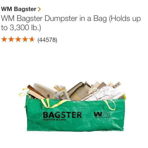 Bagster dumpster by waste management