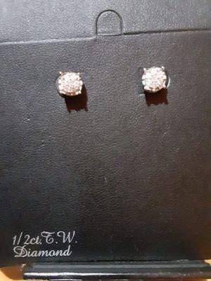 1/2 carat diamond earrings for Sale in Mesa, AZ