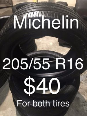 2 Michelin tires 205/55 R16 for Sale in San Lorenzo, CA