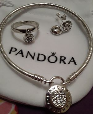 Pandora bracelet with ring and earrings for Sale in Ocala, FL
