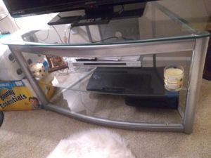 Glass tv stand for Sale in Hazelwood, MO