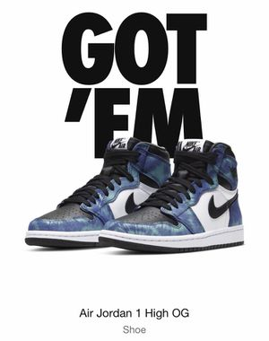 AIR JORDAN 1 TIE DYE size 7.5 W !!! for Sale in Indianapolis, IN