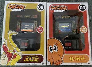 2 Mini Arcade Games Qbert Joust batteries included for Sale in Alexandria, VA